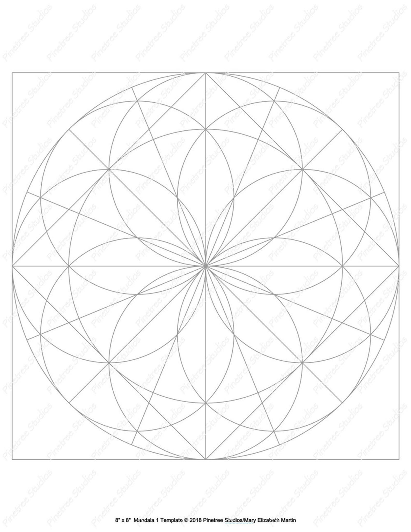 Mandala 1 Template Digital Download Printable Ipad Pro
