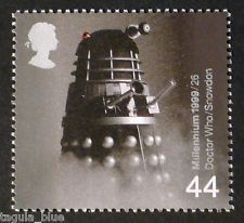Dalek from Dr Who illustrated on 1999 Stamp - Unmounted mint