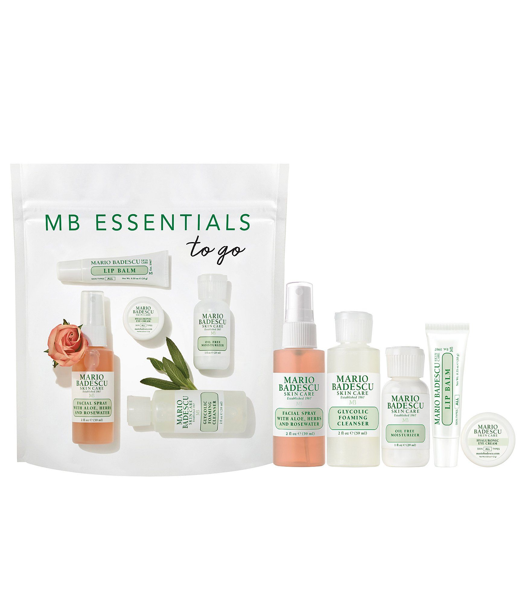 Mario Badescu Exclusive Essentials To Go Set Dillard S In 2020 Mario Badescu Mario Bedescu Mario Badescu Skin Care