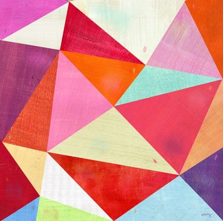 $139 PRETTY PINK PRISMS - Canvas wall art (modern home decor) by Melanie Mikecz at GreenBox Art + Culture
