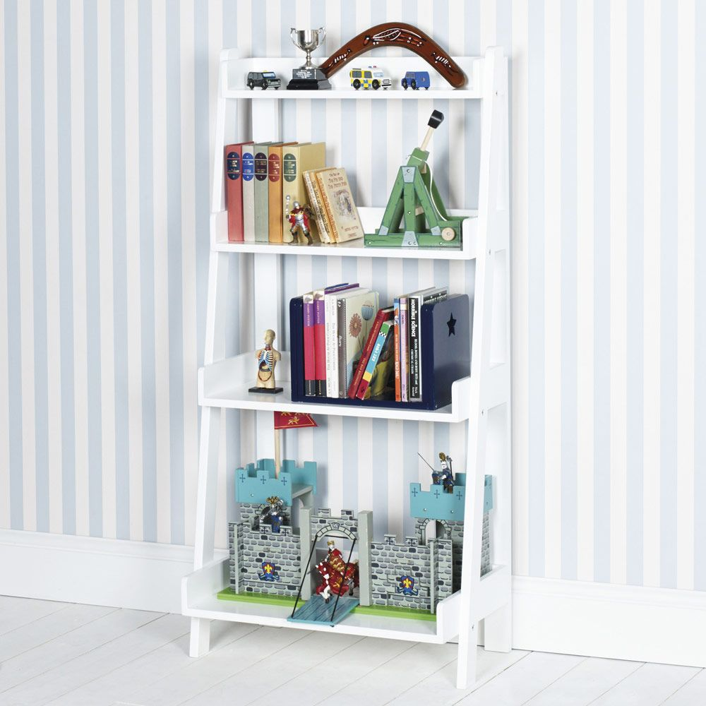 Bookcase Bedroom Furniture Ladder Bookcase White Bookcases Bookshelves Childrens