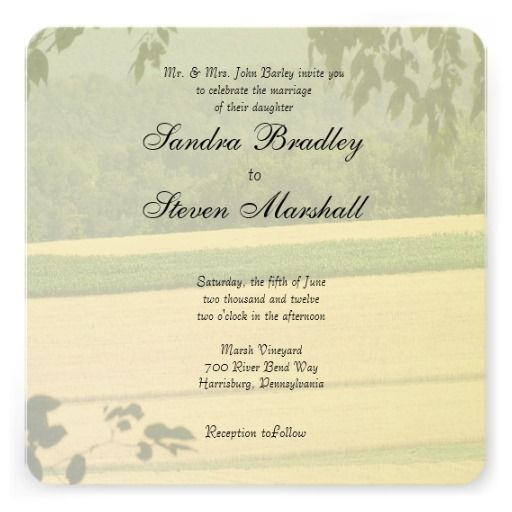 Summer Fields Rounded Wedding Invitations #zazzle #summertheme #countrytheme