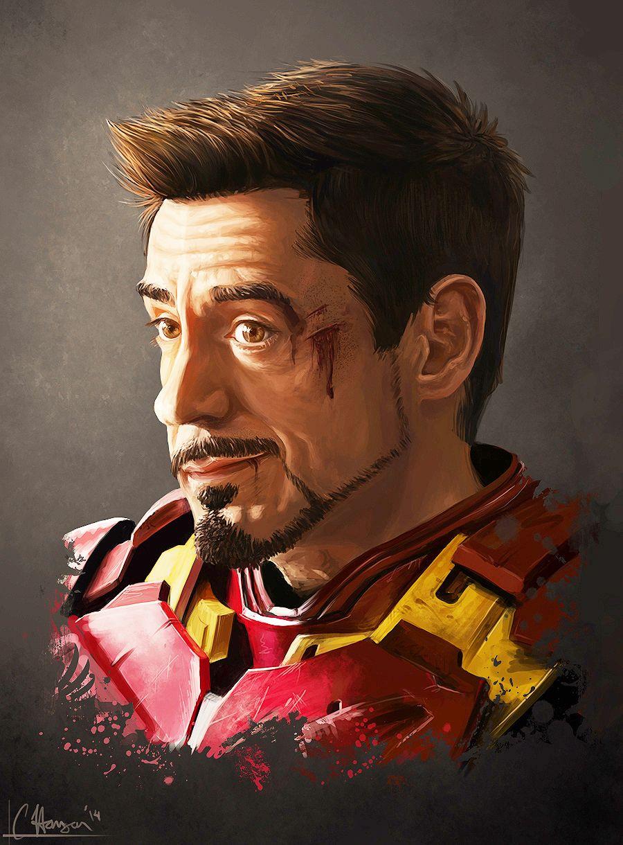 Tony Stark Iron Man Art