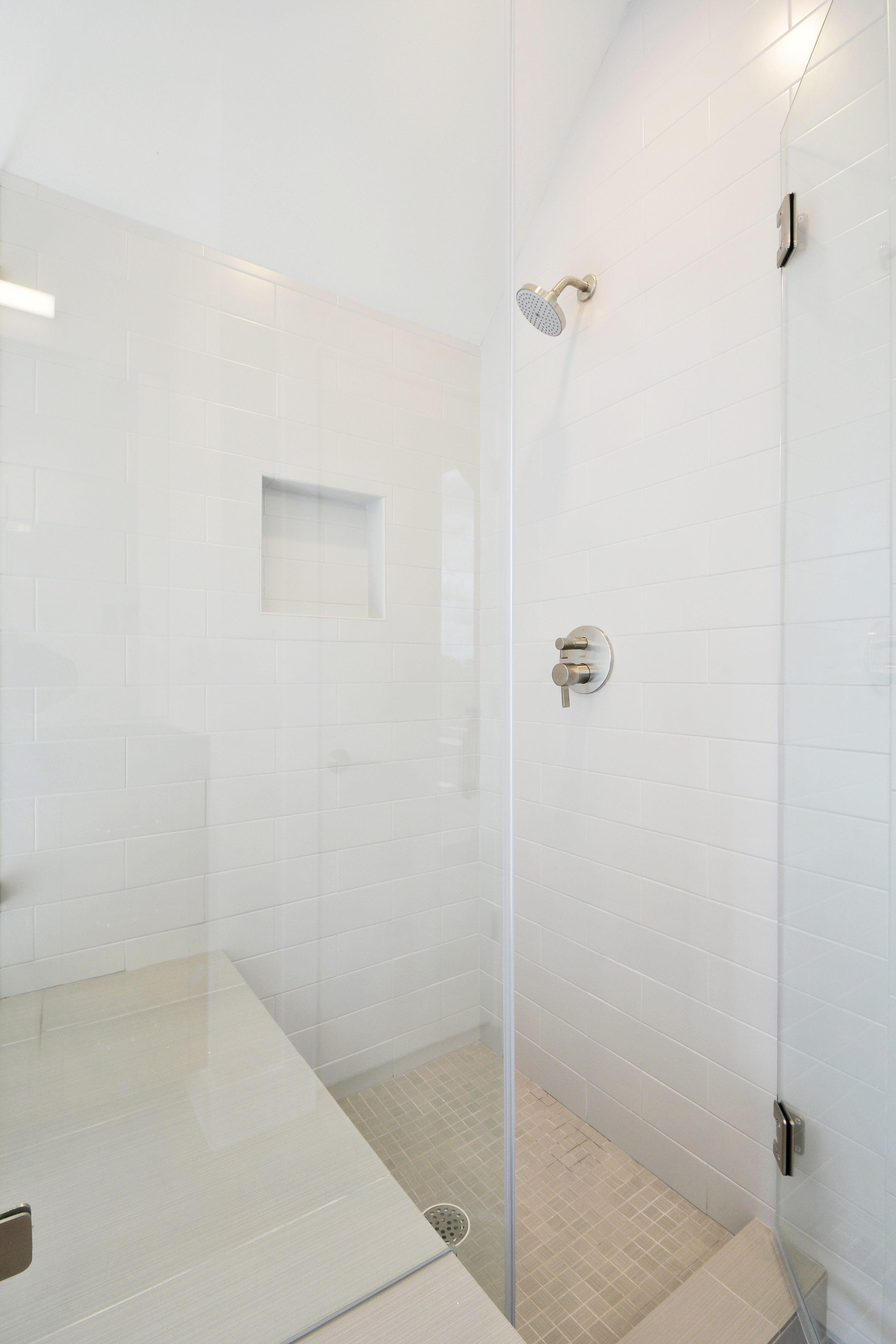 2010 Goodrich 1A | Master bath | Shower  | White subway tile | Austin Homebuilder | Modern home | Austin home | Modern farmhouse