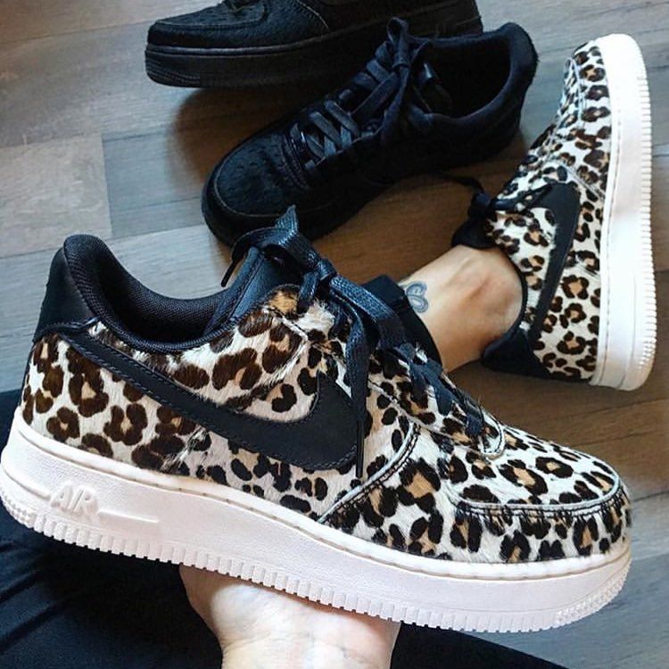 air force 1 leopardate rosa