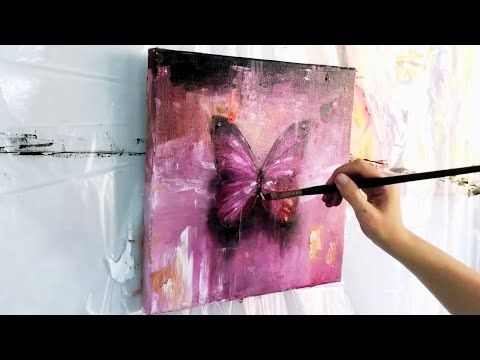 How To Paint 3d Butterfly Blue Butterflies Acrylic Painting