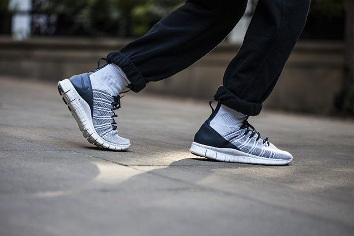 On foot look at the Nike Free Flyknit Mercurial Superfly Pure Platinum.  Coming 1st October. http://ift.tt/1QJFA6T