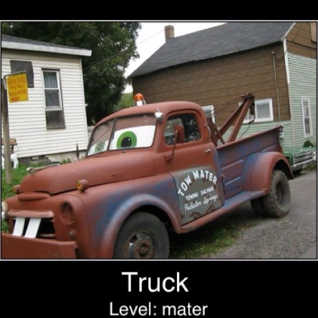 My Name's Mater. It's Like Tamater Without The Ta!