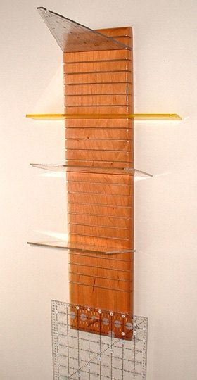 Quilter S Hanging Ruler Rack 24 Slots Cherry Quilts