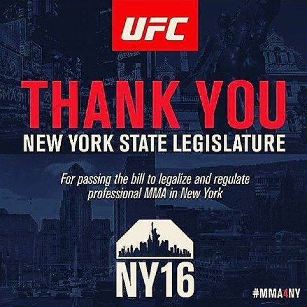 New York Legalized Mixed Martial Arts. #mma #ufc #nyc