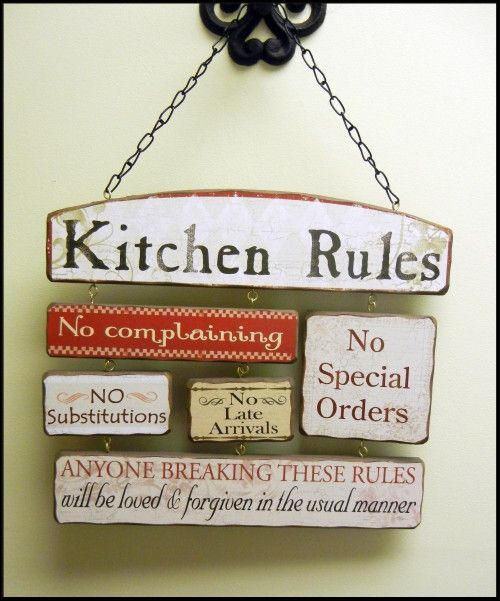 Kitchen Rules Wall Plaque Wall Plaque Kitchen Decor Home Decor