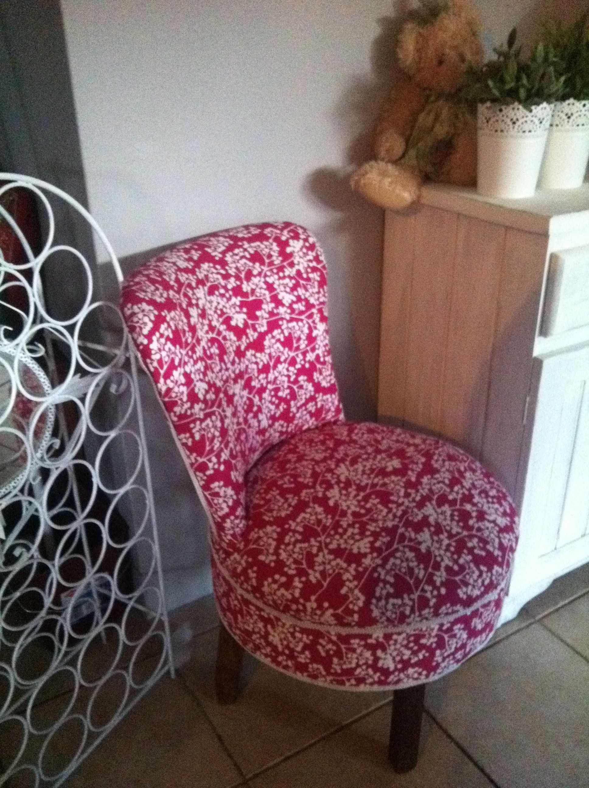 totally wicked magenta colored ladies bedroom chair reupholstered