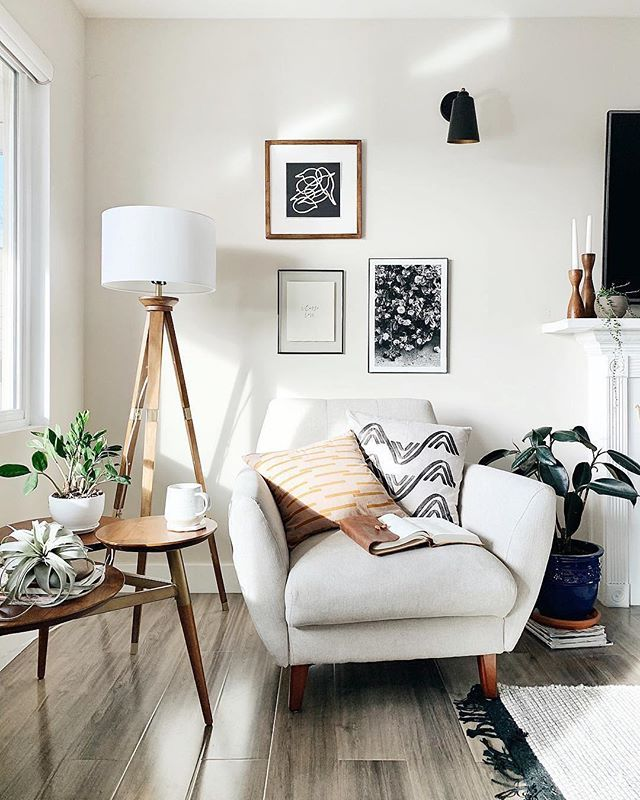 Living Room Inspiration With Mid Century Modern Accent Chair Mid Century Modern Si Floor Lamps Living Room Tripod Floor Lamp Living Rooms Living Room Flooring