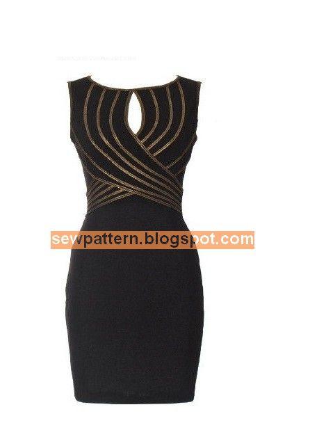 باترون مفصل لفستان قصير - Sew Pattern | خياطة وتفصيل | Pinterest