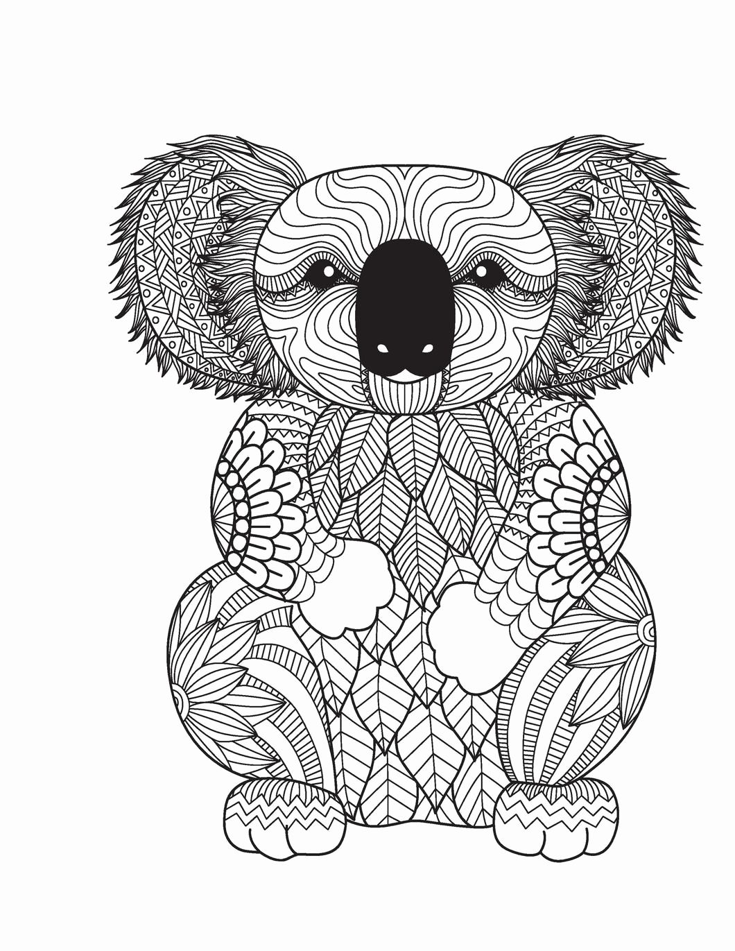 Animal Coloring Book Pages Unique Amazing Animals For Adults Who Color Live Your Life In In 2020 Bear Coloring Pages Animal Coloring Books Animal Coloring Pages