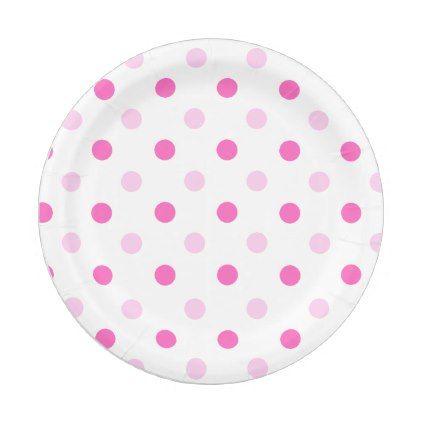 sc 1 st  Pinterest & Pink Polka Dot Paper Plate | Polka dot paper