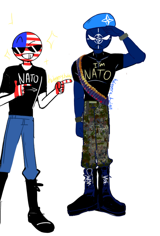 Introducing NATO,, can someone answer why does Ame always
