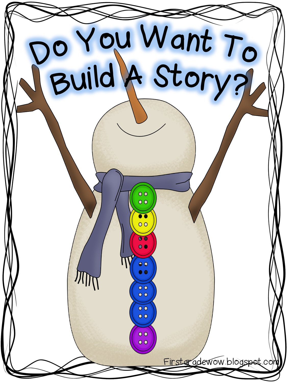 First Grade Wow Let It Snow Snowman Retelling Practice