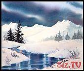 Winterlandschaft Kunstdruck von Teresa Ascone, #Art #Ascone #landscape #Print #Teresa #Winter …