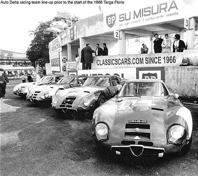 Zagato Alfa Romeo TZ 2 Autodelta Racingteam Targa Florio
