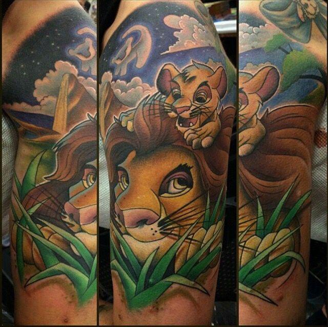 lion king short sleede tattoo disney tattoo pinterest lions tattoo and piercings. Black Bedroom Furniture Sets. Home Design Ideas