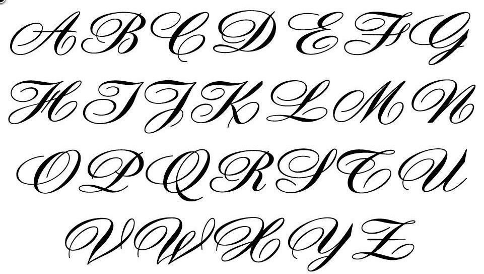 gotiske bogstaver tatoveringer