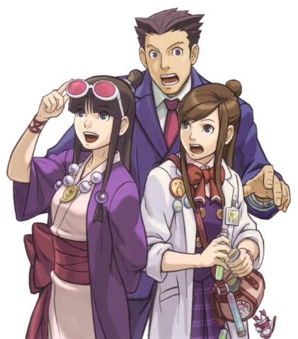 Phoenix And Assistant Girls Png Phoenix Wright Ace Attorneys
