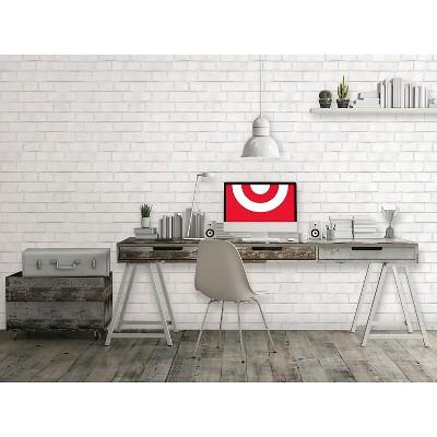 Textured Brick Peel & Stick Wallpaper White Threshold™