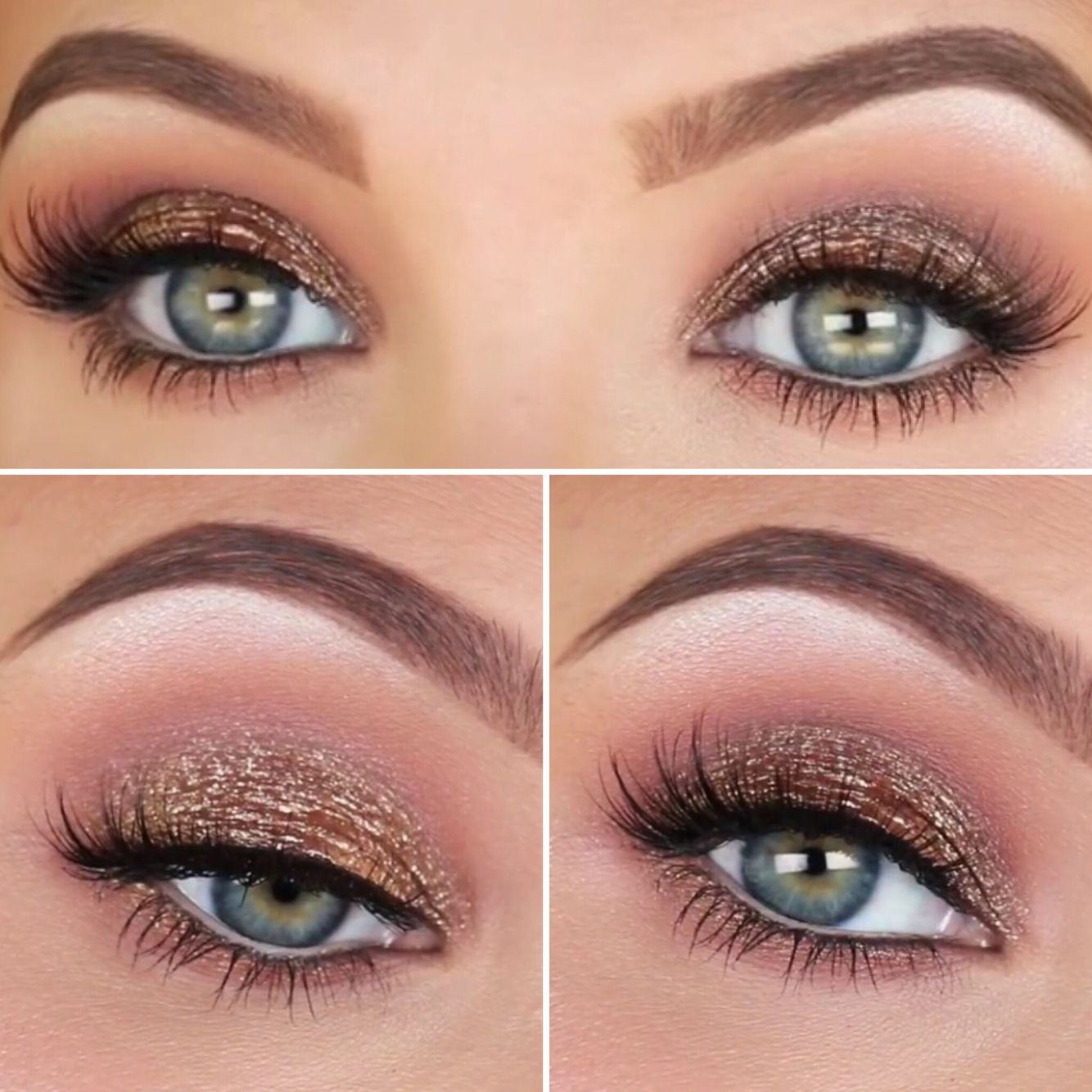 Jaclyn Hill Antique Bronze Smokey eye makeup (colourpop