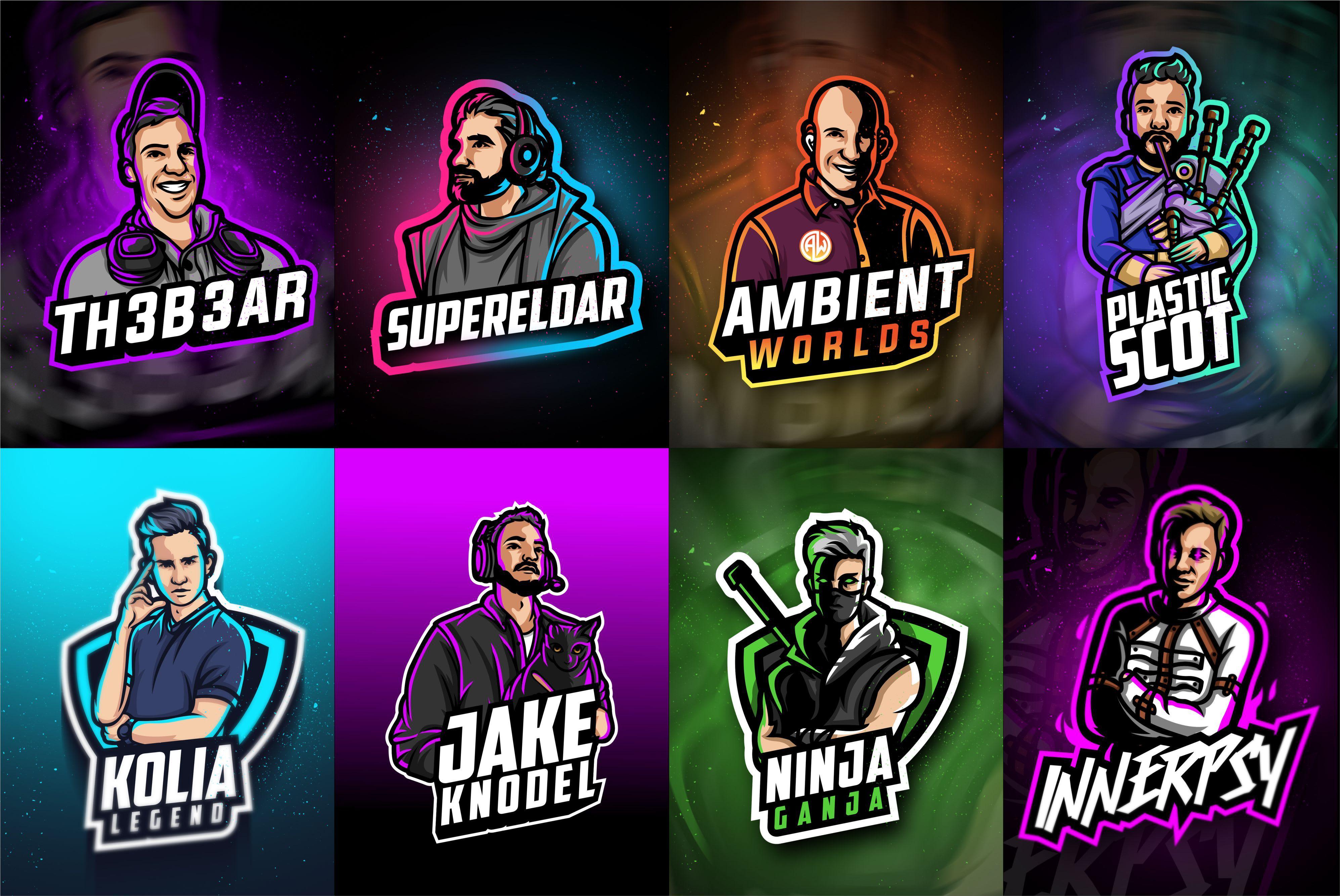 Design logo esports game,sports,team,cartoon di 2020