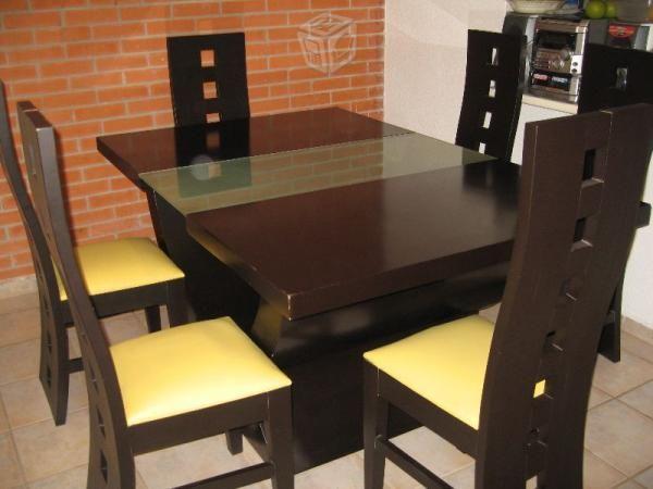 Comedor de seis sillas antiguas muebles pinterest for Sillas modernas 2016