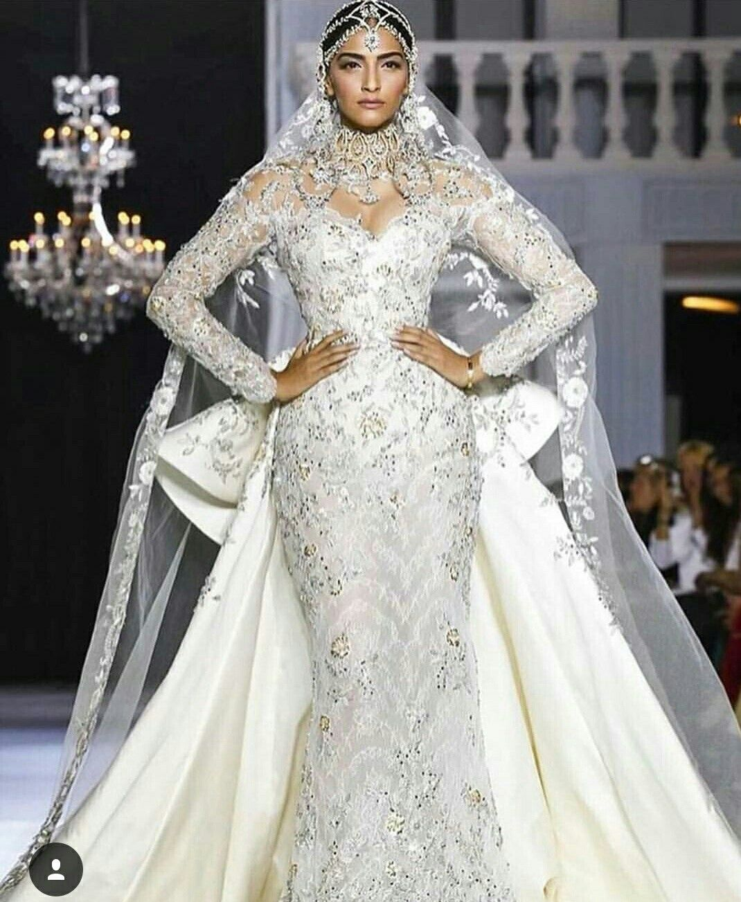Sonam Kapoor in Ralph and Russo Fall Couture 2017 finale wedding gown. Born  of Web Sonam Kapoor