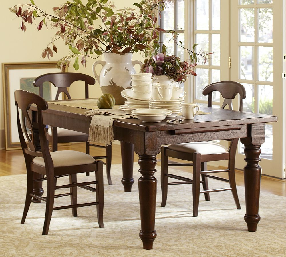 I *love* This Tableand Chairssumner Dining Table  Accessorize Awesome Pottery Barn Dining Room Tables Decorating Inspiration