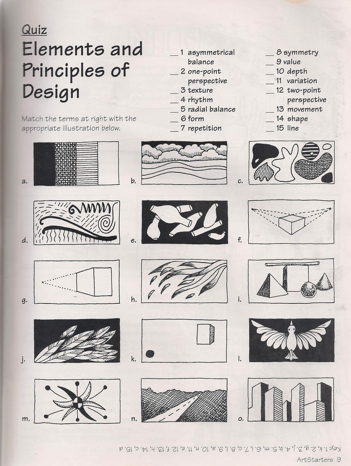 Worksheets Elements And Principles Of Art Worksheet no corner suns the elements and principles of art free quiz download http