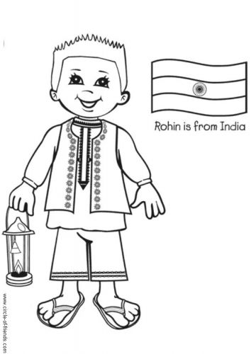 India Coloring Page Homeschooling