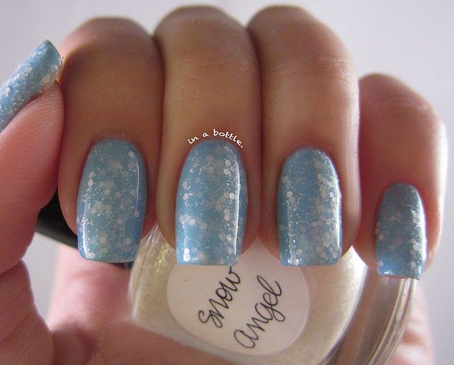 Lynnderella Snow Angel over 2 coats of Chanel Coco Blue