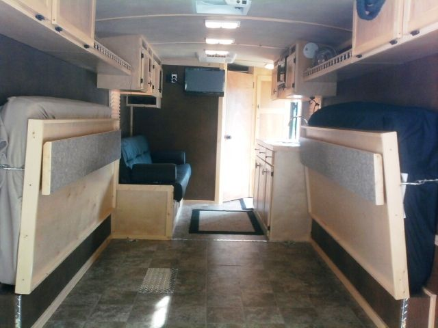 Cargo trailer camper conversion living quarter for Install bathroom in enclosed trailer