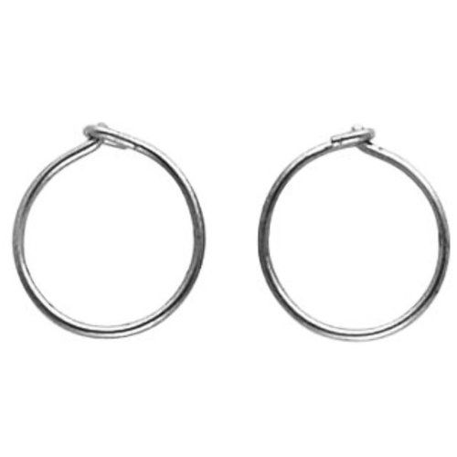 13.25mm Blomdahl Titanium Hoop Earrings - Hypoallergenic for Sensitive Ears