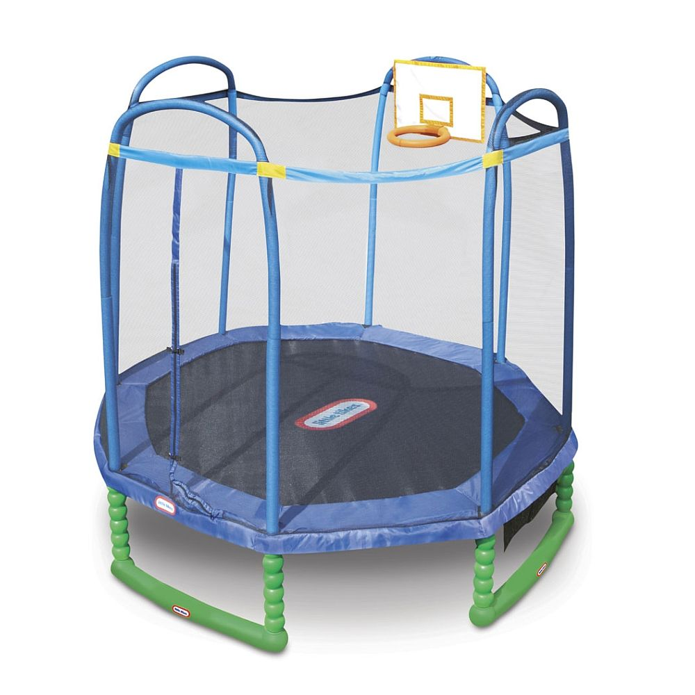 The 10ft. Sports Trampoline brings basketball and