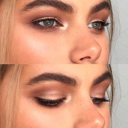 we love this warmtoned smokey eye look that is enhanced