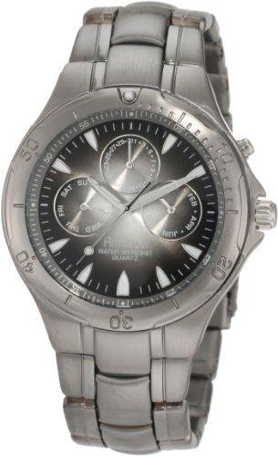 Armitron Mens Black Titanium Bracelet Watch MeIwe2S