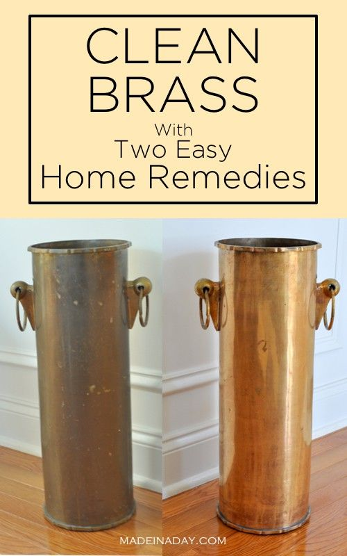 Super Easy Way To Clean Brass With Out Going The