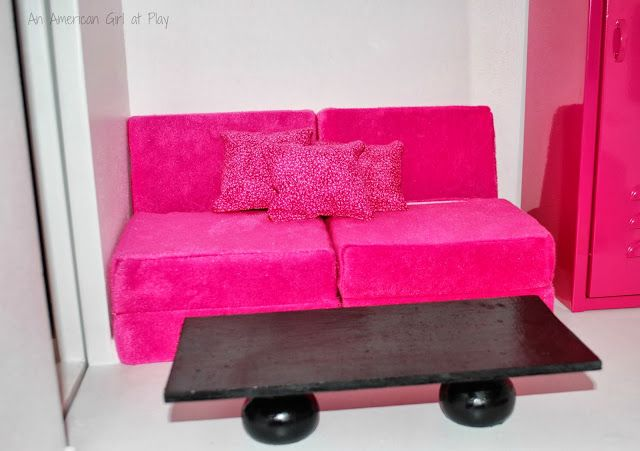 An American Girl at Play -- make a coffee table using craft store raw wood -- $2.00 table