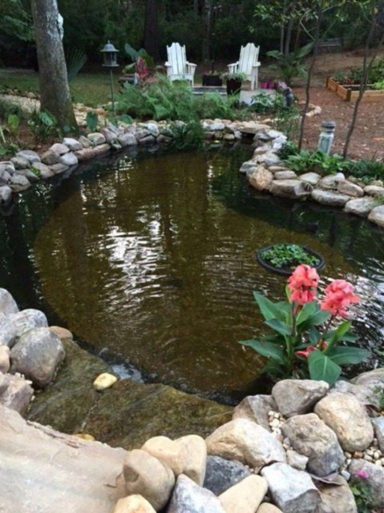 42 Fish Pond Garden Designs With Water Fountain Concept Matchness Com Fish Pond Gardens Pond Landscaping Ponds Backyard