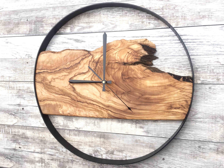 Wood Wall Clock Large Wall Clock Rustic Clock Reclaimed Wood Clock Wooden Clock Unique Wall Clock