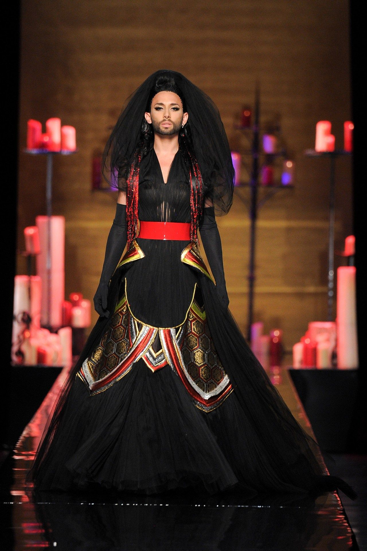 Red and black wedding dress  Suzy Menkes There Will be Blood  Black red wedding Red wedding