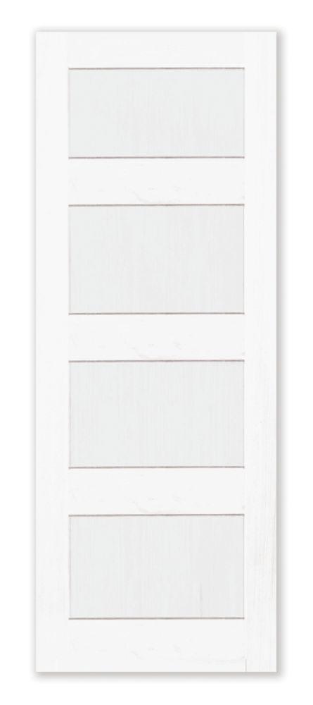 22 Inch X 80 Inch Primed 4 Panel Shaker Style Door Shaker Style Doors Shaker Style Shaker Doors