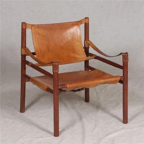 Danish Leather Safari Chair