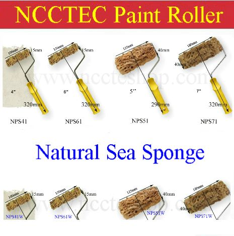 4 5 6 7 Natural Sea Sponge Paint Roller Free Shipping 100mm 125mm 150mm 180mm Paint Roller With Handle Or Without Handle Natural Sea Sponge Sea Sponge Sponge Painting