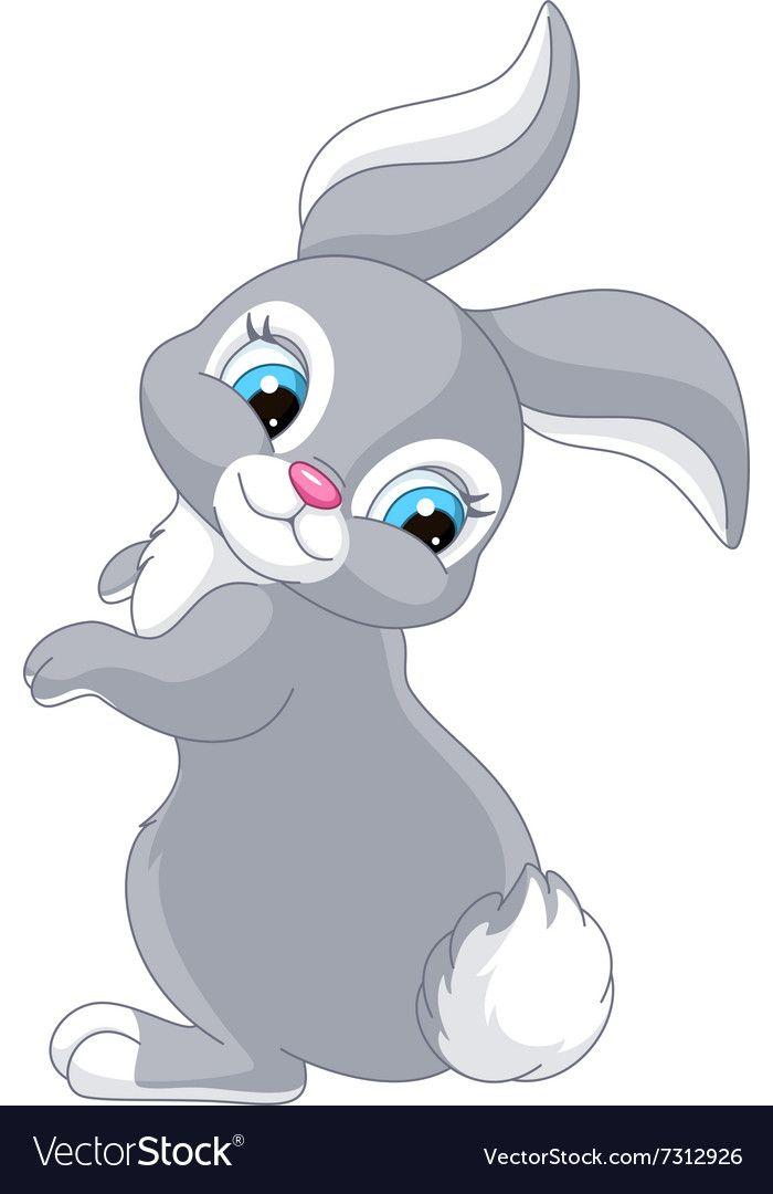 Rabbit Royalty Free Vector Image Vectorstock Cute Bunny Cartoon Cartoon Clip Art Bunny Images